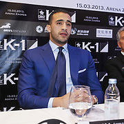KRO/Zagreb/20130313- K1 WGP Final Zagreb, Badr Hari en Micheal Buffet