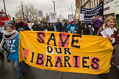 5 Mar 2016 - Hundreds march in Brixton to protest against the Council's plans to close libraries.