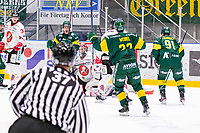 2019-11-11 | Umeå, Sweden:Björklöven (13) Fredric Andersson scores 1-1 in HockeyAllsvenskan during the game  between Björklöven and Vita Hästen at A3 Arena ( Photo by: Michael Lundström | Swe Press Photo )<br /> <br /> Keywords: Umeå, Hockey, HockeyAllsvenskan, A3 Arena, Björklöven, Vita Hästen, mlbv191111