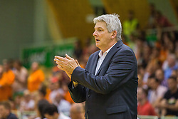 Ales Pipan, headcoach of KK Zlatorog during basketball match between KK Zlatorog and KK Helios Suns in 1st match of Nova KBM Slovenian Champions League Final 2015/16 on May 29, 2016  in Dvorana Zlatorog, Lasko, Slovenia.  Photo by Ziga Zupan / Sportida