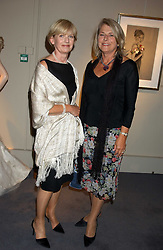 Left to right, ELIZABETH STANBURY and SUSAN FERGUSON at a private view of fashion designer Lindka Cierach's Couture Dresses drawn by Trudy Good held at the Belgravia Gallery, 45 Albemarle Street, London on 21st September 2005.<br />