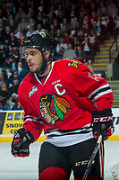 KELOWNA, CANADA - APRIL 8: Keegan Iverson #13 of the Portland Winterhawks skates against the Kelowna Rockets on April 8, 2017 at Prospera Place in Kelowna, British Columbia, Canada.  (Photo by Marissa Baecker/Shoot the Breeze)  *** Local Caption ***