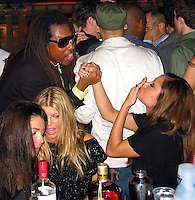 Jeffery Dread kissing Vanessa Minnillo with Fergie of Black Eye Peas (left).Shaquille O'Neal Kick Off Event.Casa Casaurina aka (Versace Mansion).Miami Beach, FL, USA.Thursday, February 01, 2007.Photo By Celebrityvibe.com.To license this image please call (212) 410 5354; or.Email: celebrityvibe@gmail.com ;.Website: www.celebrityvibe.com