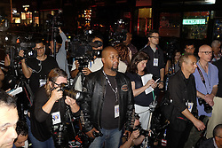 NEW YORK, Sept. 18, 2016 (Xinhua) -- Media reporters wait for the press conference on an explosion in New York, the United States, on Sept. 17, 2016. New York City Mayor Bill De Blasio said Saturday that there is ''no evidence at this point of a terror connection'' to an explosion in New York Saturday evening, in which twenty-nine people were injured.  (Xinhua/Li Muzi) (wtc) (Credit Image: © Li Muzi/Xinhua via ZUMA Wire)