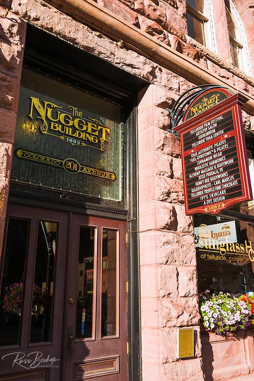 The Nugget historic building, Telluride, Colorado USA