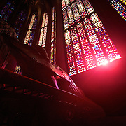 Stained Glass light is always impressive - more so when it comes thru windows that are hundereds of years old in a catherdreal begun a more then a millennia before you arrived to take in the sight!