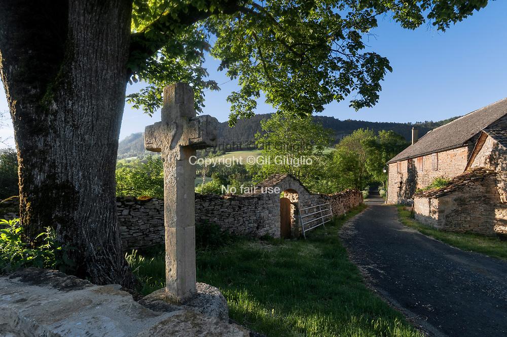 France, Occitanie, Lozère (48), village les Salelles // France, Occitanie, Lozere departement, village of Les Salelles