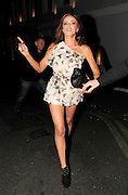 21.JUNE.2011. LONDON<br /> <br /> A VERY WORSE FOR WEAR MARIA FOWLER LEAVES THE GROUCHO CLUB WITH GREG BURNS IN SOHO AND STUMBLES HER WAY DOWN THE STREET, AT ONE POINT MARIA ALMOST GOT HIT BY A TAXI BIKE!<br /> <br /> BYLINE: EDBIMAGEARCHIVE.COM<br /> <br /> *THIS IMAGE IS STRICTLY FOR UK NEWSPAPERS AND MAGAZINES ONLY*<br /> *FOR WORLD WIDE SALES AND WEB USE PLEASE CONTACT EDBIMAGEARCHIVE - 0208 954 5968*