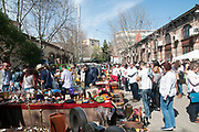 Mercado de Motores Saturday flea market at the Madrid Railway Museum (Museo del Ferrocarril de Madrid). Madrid, Spain