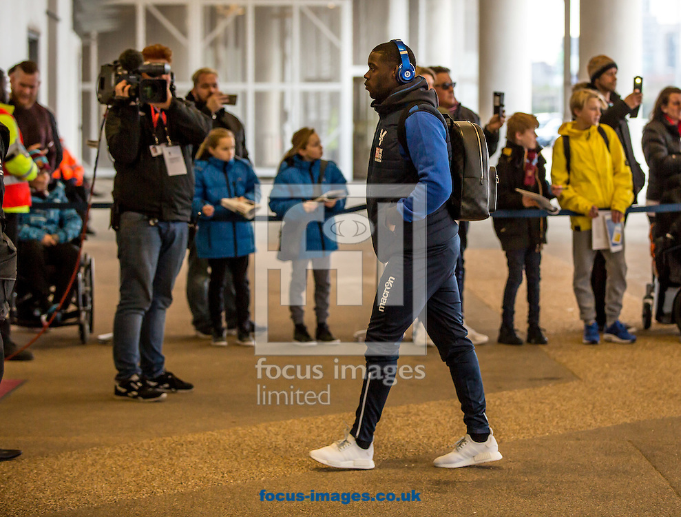 Jeffrey Schlupp of Crystal Palace arrives during the Premier League match against West Ham at the London Stadium, Stratford<br /> Picture by Liam McAvoy/Focus Images Ltd 07413 543156<br /> 14/01/2017