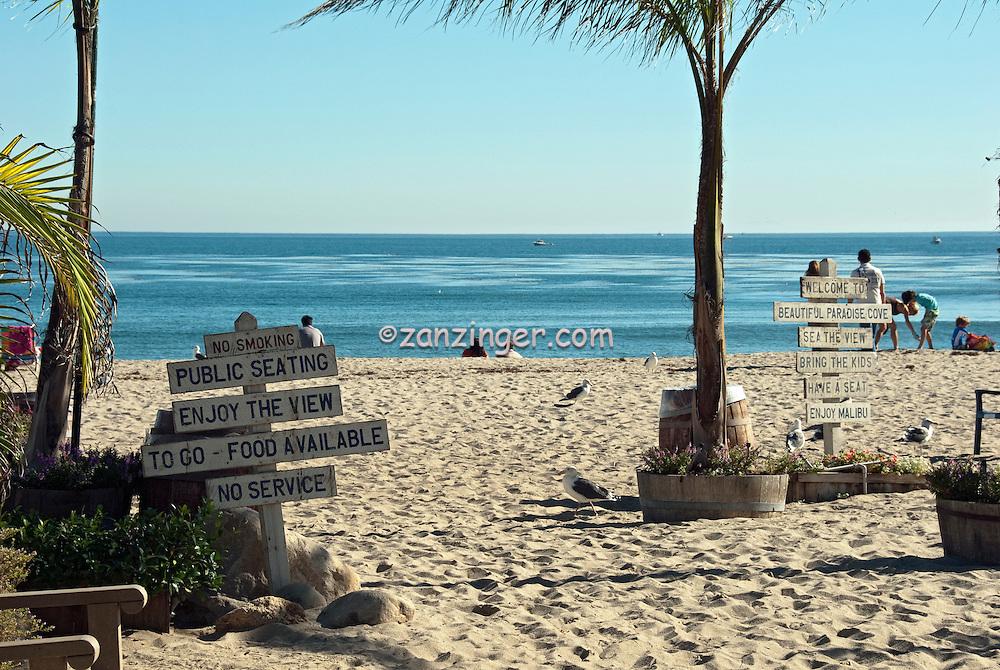 Paradise Cove Beach Café, Malibu, California, Los Angeles, Beach Restaurant, Private Beach, Ocean