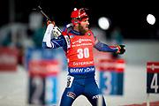 &Ouml;STERSUND, SVERIGE - 2017-12-02: Michal Slesinger under herrarnas sprint t&auml;vling under IBU World Cup Skidskytte p&aring; &Ouml;stersunds Skidstadion den 2 december 2017 i &Ouml;stersund, Sverige.<br /> Foto: Johan Axelsson/Ombrello<br /> ***BETALBILD***