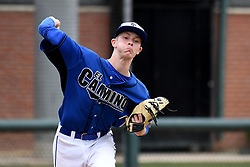 May 23, 2019 - Los Angeles, California, U.S. - El Camino Real pitcher Julian Jacobson #5 during L.A. City Section semifinal game against Palisades at Dedeaux Field on the USC campus in Los Angeles Thursday, May 23, 2019. Palisades defeated El Camino Real 1-0. (Credit Image: © Hans Gutknecht/SCNG via ZUMA Wire)