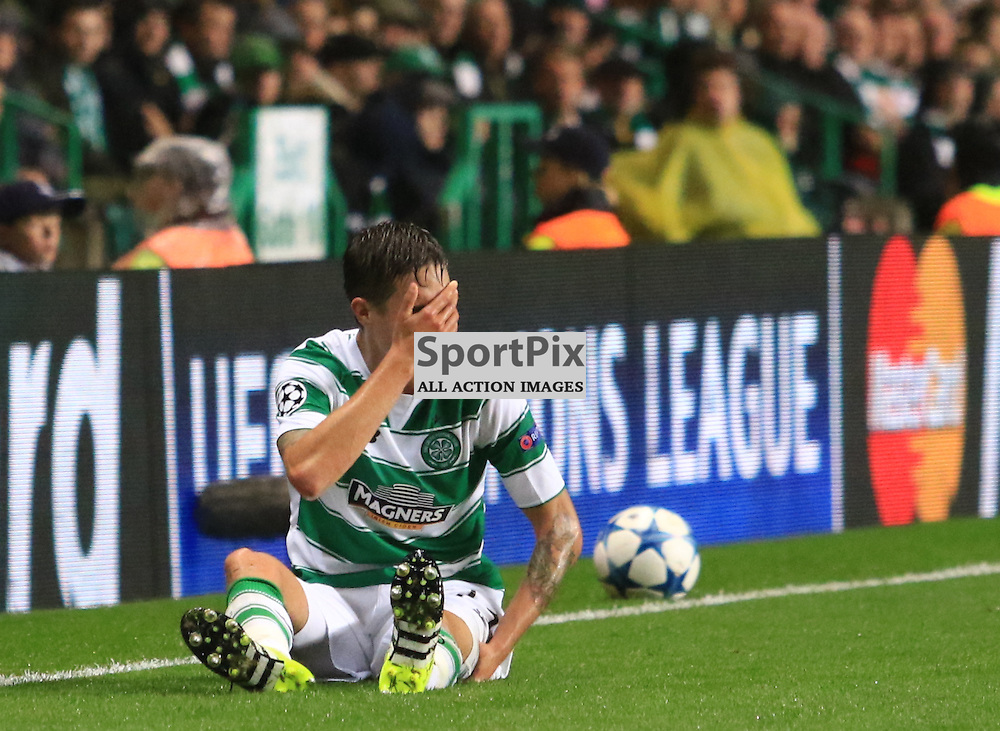 Celtic's Mikael Lustig match is over during the Glasgow Celtic FC v Malmö FF Champions League Play-Off  19th August 2015 ©Edward Linton | SportPix.org.uk