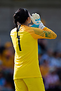 SYDNEY, NSW - FEBRUARY 28: Korean player Gaae Kang (1) calls out to her team at The Cup of Nations womens soccer match between Argentina and Korea Republic on February 28, 2019 at Leichhardt Oval, NSW. (Photo by Speed Media/Icon Sportswire)