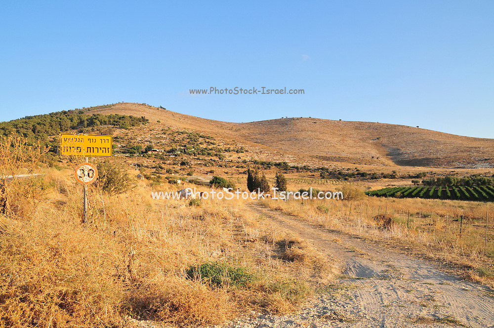 Israel, Jezreel Valley, Mount Gilboa
