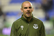 Everton's midfielder Darron Gibson during warm up before the Capital One Cup match between Reading and Everton at the Madejski Stadium, Reading, England on 22 September 2015. Photo by Mark Davies.