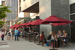North America, United States, Washington, Bellevue, outdoor dining at Purple restaurant