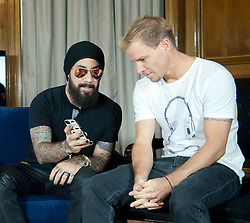 In the image - (L-R) A.J. Maclean and Brien Littrell.<br /> The Backstreet Boys,  Kevin Richardson, Howie Dorough, Nick Carter, A.J. Maclean and Brien Littrell visit Spain to celebrate their 20th anniversary. The group that revolutionised a decade has been reunited to celebrate their 20th anniversary in the music world, Madrid, Spain, Tuesday, 12th November 2013. Picture by DyD Fotografos / i-Images<br /> SPAIN OUT