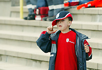 Photo: Chris Ratcliffe.<br />England training session. 06/06/2006.<br />A young fan watches on as England's warm up begins in the mountains of the Black Forest in Buhlertal.