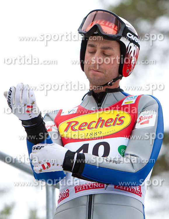 10.12.2011, Ramsau am Dachstein, AUT, FIS Nordische Kombination, Ski Sprung, im Bild Mario Stecher (AUT) // Mario Stecher of Austria during Ski jumping at FIS Nordic Combined World Cup in Ramsau, Austria on 2011/12/10. EXPA Pictures © 2011, PhotoCredit: EXPA/ Johann Groder