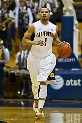 Jan 14, 2012; Berkeley CA, USA;  California Golden Bears guard Justin Cobbs (1) dribbles the ball against the Utah Utes during the second half at Haas Pavilion. California defeated Utah 81-45. Mandatory Credit: Jason O. Watson-US PRESSWIRE