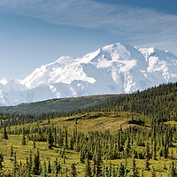Denali revealed in all its splendor. Denali National Park, Alaska