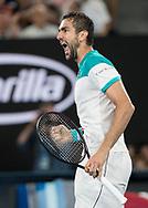 MARIN CILIC (CRO) macht die Faust und jubelt, Jubel, Emotion,<br /> <br /> Tennis - Australian Open 2018 - Grand Slam / ATP / WTA -  Melbourne  Park - Melbourne - Victoria - Australia  - 28 January 2018.