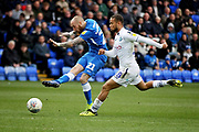 Peterborough Utd forward Marcus Maddison (21) gets in a shot during the EFL Sky Bet League 1 match between Peterborough United and Wycombe Wanderers at London Road, Peterborough, England on 2 March 2019.