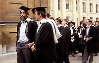 Oxford University graduation.