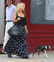 Meg Mathews out walking her dog in Primrose Hill, London, UK. 16/08/2012<br />