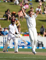 Hamilton-Cricket, New Zealand v West Indies, 3rd test, day 3