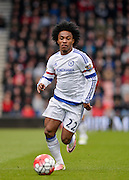 Chelsea Midfielder Willian (22) during the Barclays Premier League match between Bournemouth and Chelsea at the Goldsands Stadium, Bournemouth, England on 23 April 2016. Photo by Adam Rivers.
