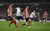 Football - 2019 / 2020 Premier League - Tottenham Hotspur vs. Sheffield United<br /> <br /> Tottenham Hotspur's Son Heung-Min scores the opening goal, at Tottenham Hotspur Stadium.<br /> <br /> COLORSPORT/ASHLEY WESTERN