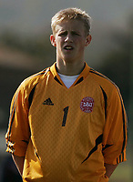 Fotball<br /> La Manga - Spania<br /> 10.02.2005<br /> Norge v Danmark 5-1<br /> Foto: Morten Olsen, Digitalsport<br /> <br /> Kasper Schmeichel - Manchester City