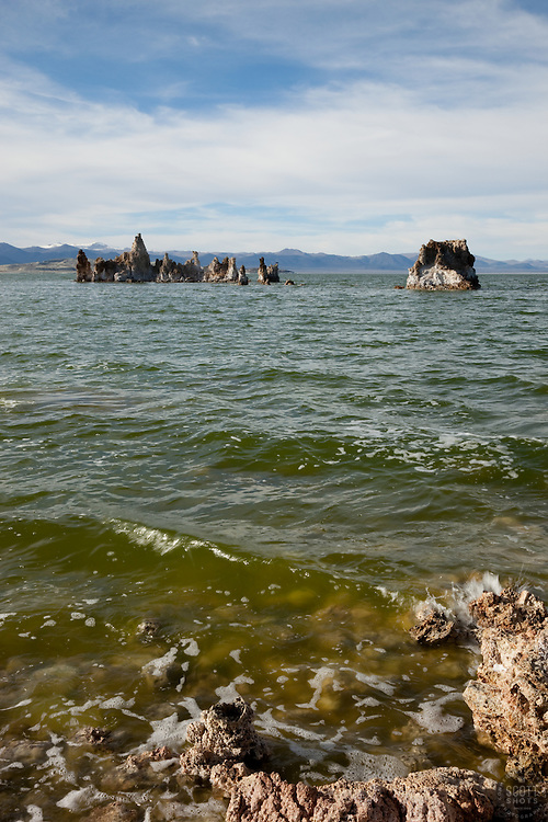 """Tufas at Mono Lake 4"" - These tufas were photographed at the South Tufa area in Mono Lake, California."