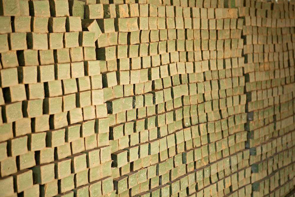 Aleppo soap is still made in the traditional way, here piled high before it's ready for sale
