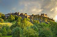 Edinburgh castle at sunset.