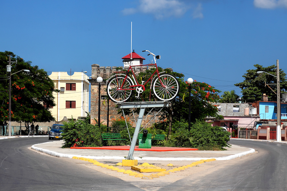 Bicycle sculpture in Cardenas, Matanzas, Cuba.