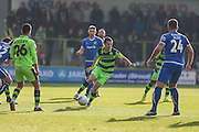Forest Green Rovers Liam Noble(15) runs forward during the Vanarama National League match between Forest Green Rovers and Guiseley  at the New Lawn, Forest Green, United Kingdom on 22 October 2016. Photo by Shane Healey.
