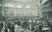 Business in full swing in The Manchester Exchange, headquarters of the grocery trade in Lancashire, England, c1905.