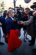 Freshman Congressional Representative Carolyn McCarthy speaks to the media November 15, 1996 In Washington DC. McCarthy was elected to Congress after a gunman killed her husband and 5 others aboard a Long Island commuter train.