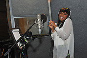 """Jennifer Hudson teams with Pampers to record her  rendition of the classic """"Lullaby and Goodnight.""""   The song will be available exclusively on Pampers' Facebook page on June 27th.  (Diane Bondareff/Invision for Pampers)"""