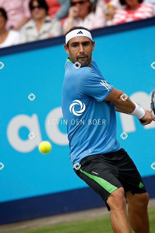 ROSMALEN - Op de Unicef Open is dit de wedstrijd tussen Marcos Baghdatis en Denis Gremelmayr.  Met op de foto tennisser Marcos Baghdatis. FOTO LEVIN DEN BOER - PERSFOTO.NU