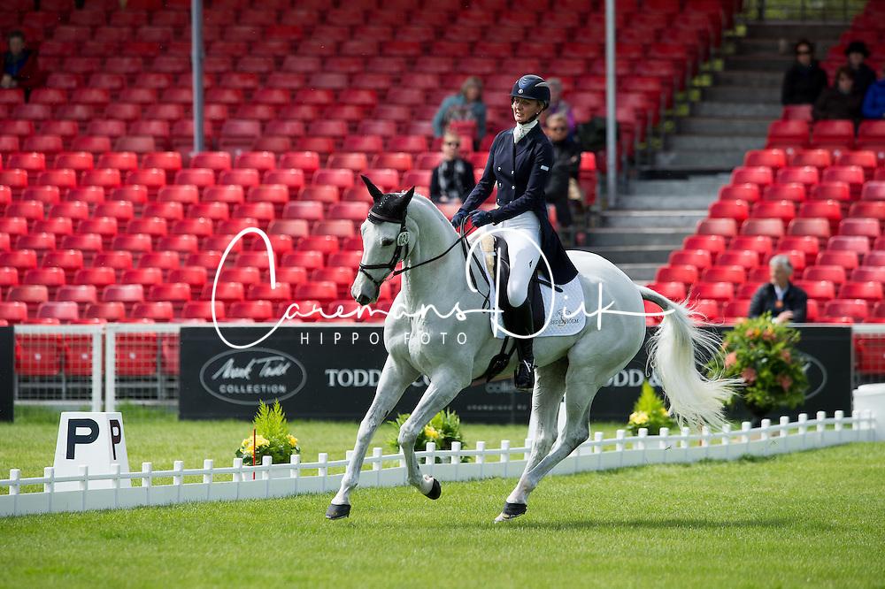 Tew Julie, (GBR), Lord Of The Owls<br /> Dressage <br /> Mitsubishi Motors Badminton Horse Trials - Badminton 2015<br /> &copy; Hippo Foto - Jon Stroud<br /> 07/05/15