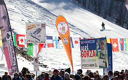 Fans of Ales Gorza of Slovenia during 2nd Rund of Men's Giant Slalom of FIS Ski World Cup Alpine Kranjska Gora, on March 5, 2011 in Vitranc/Podkoren, Kranjska Gora, Slovenia.  (Photo By Vid Ponikvar / Sportida.com)