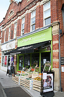 Organic supermarket in Blackrock Village Dublin Ireland