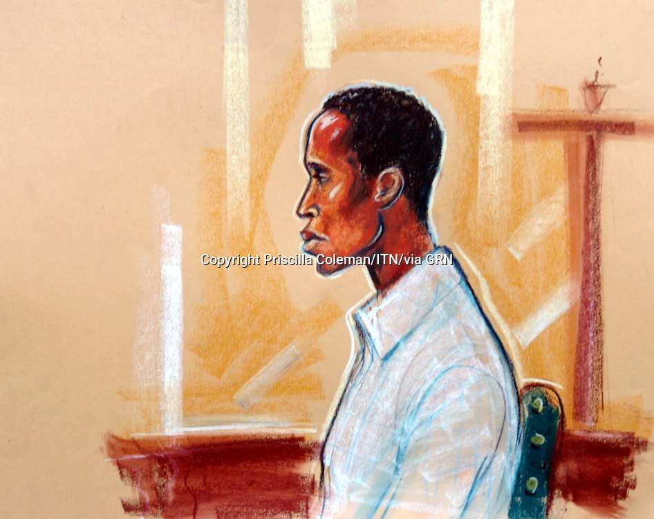 ©PRISCILLA COLEMAN ITV NEWS.05.10.04 SUPPLIED BY PHOTONEWS SERVICE LTD .PIC SHOWS: ARTIST IMPRESSION OF ELROY SIMMONDS WHO IS APPERING AT THE OLD BAILEY LONDON ON COUNTS OF 12 ROBBERIES 1 MURDER AND ASSAULT WITH INTENT..SEE STORY..