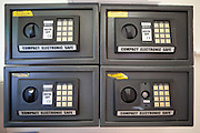 Electronic safes given to prisoners to keep their personal possessions in. HMP Styal, Wilmslow, Cheshire