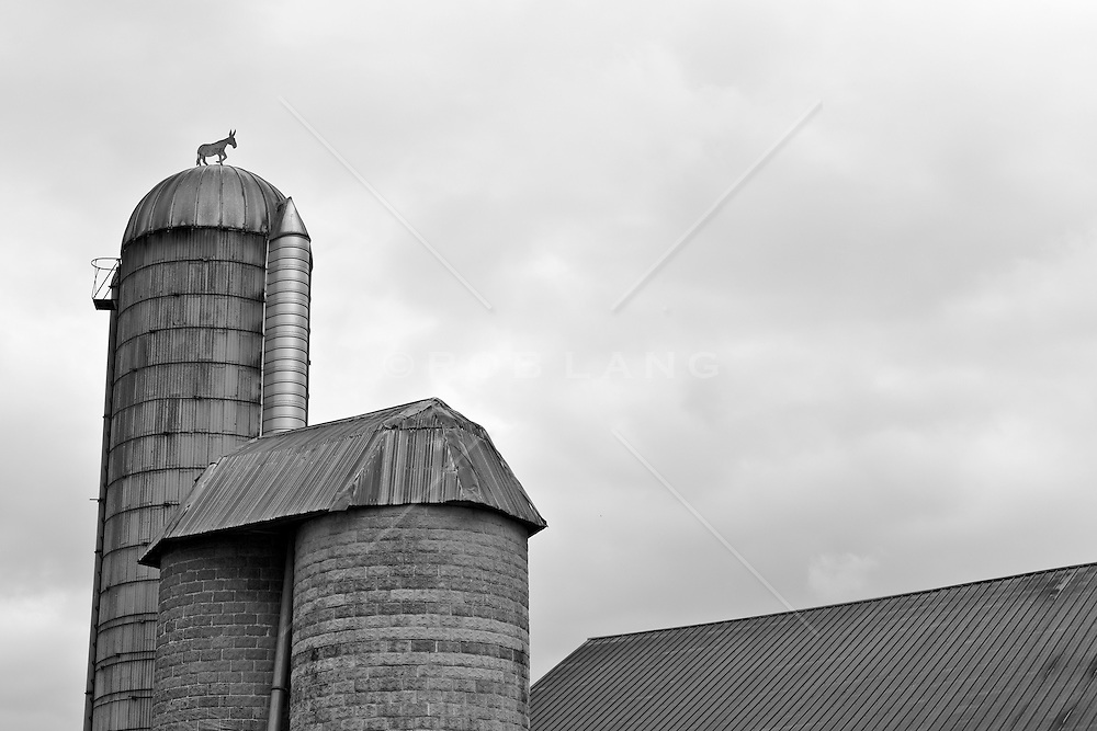 detail of a dairy barn in Lancaster, PA